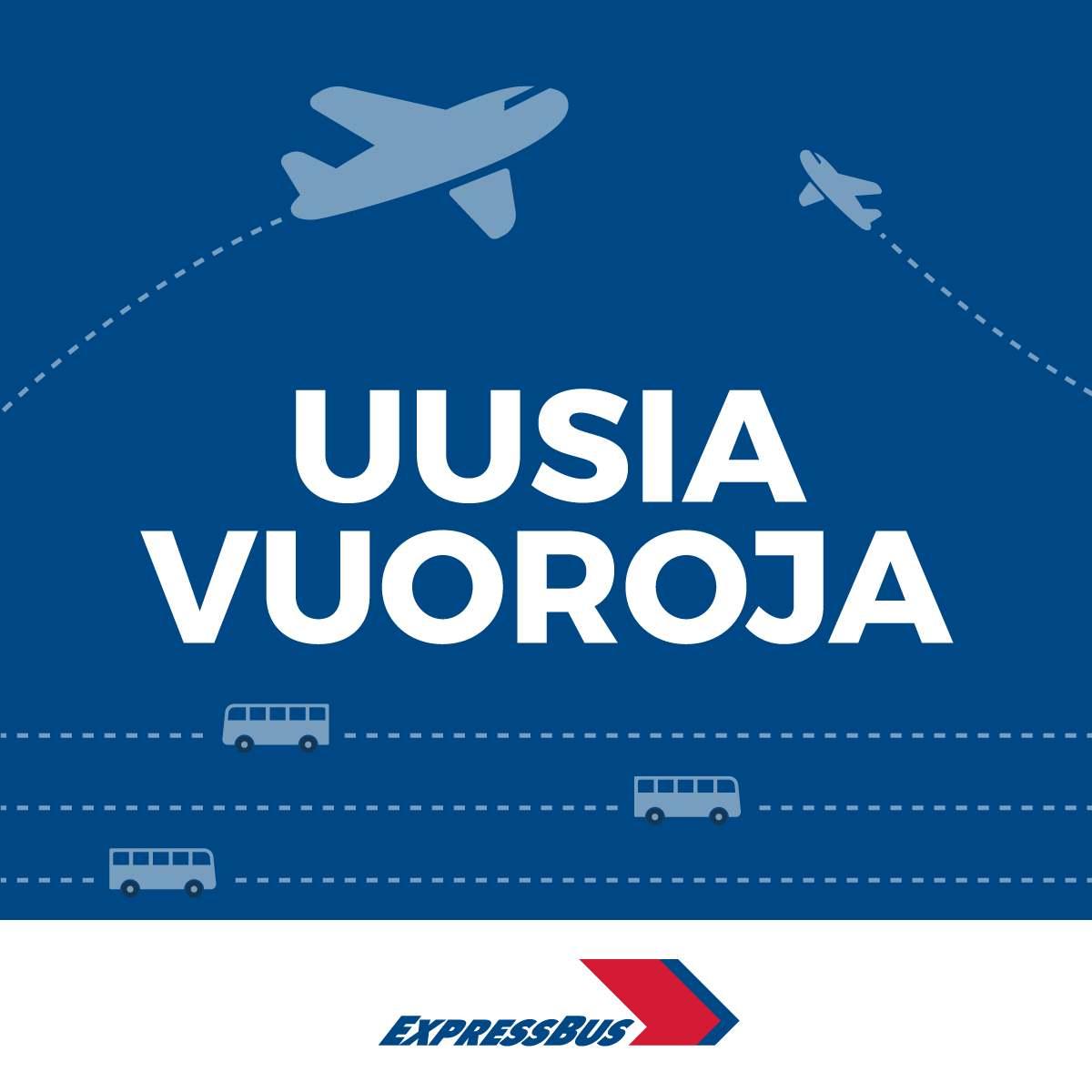 Uusia vuoroja Helsinkiin ja Helsinki-Vantaan lentoasemalle!